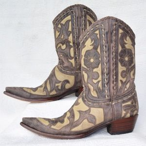OLD GRINGO tooled inlay leather cowboy boots